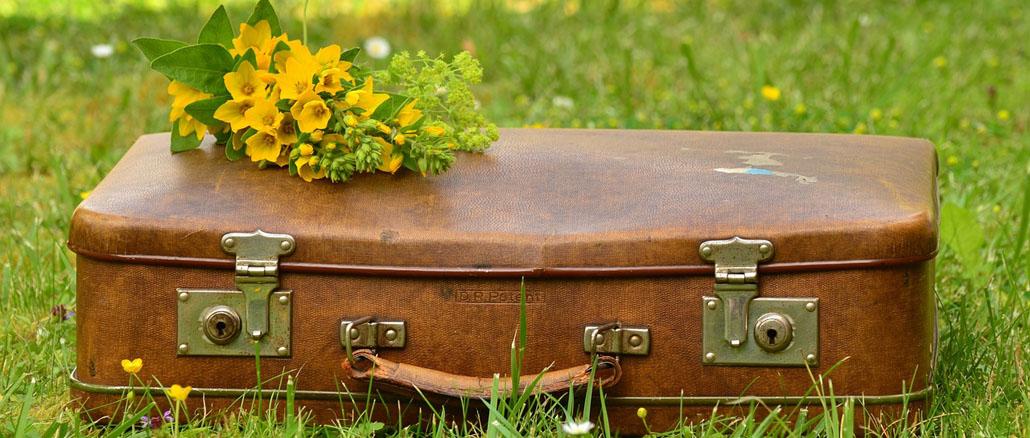 Régi bőröndök újra használatban