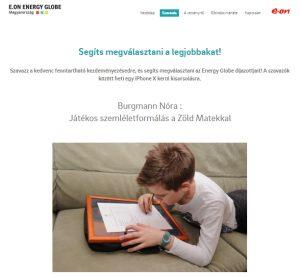 Versenyben az E.ON Energy Globe Magyarország díjért