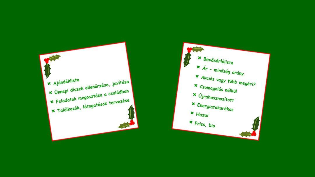 Zöld ünnepek – készíts elő mindent