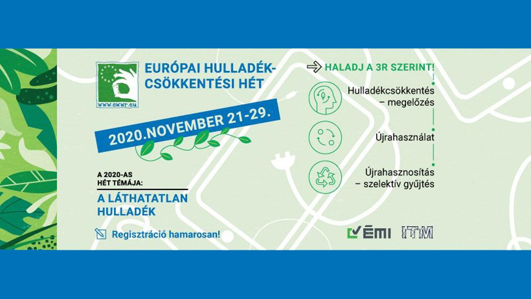 Novemberben újra Európai Hulladékcsökkentési Hét